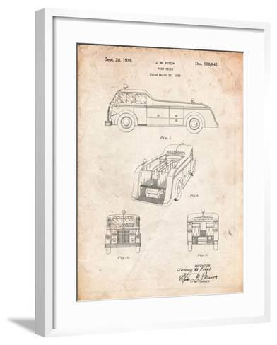 Firetruck 1939 Patent-Cole Borders-Framed Art Print