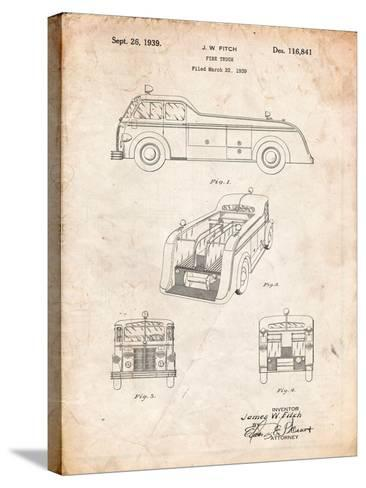 Firetruck 1939 Patent-Cole Borders-Stretched Canvas Print
