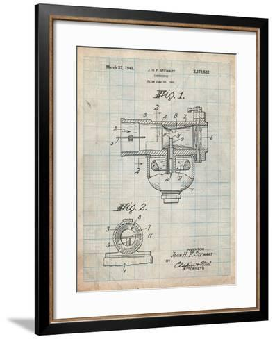 Indian Motorcycle Carburetor Patent-Cole Borders-Framed Art Print