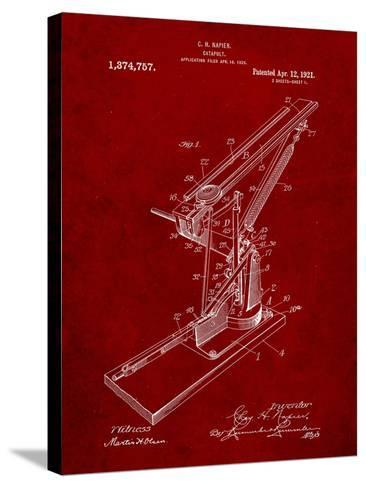Catapult Patent 1921-Cole Borders-Stretched Canvas Print