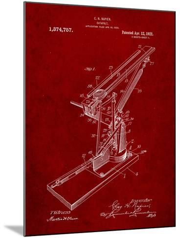 Catapult Patent 1921-Cole Borders-Mounted Art Print