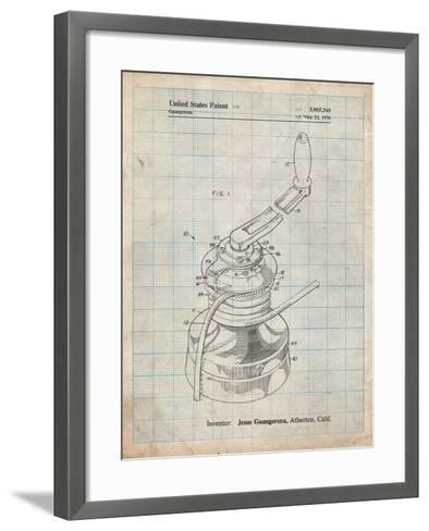 Sailboat Winch Patent-Cole Borders-Framed Art Print