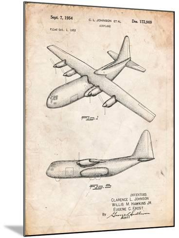 Lockheed C-130 Hercules Airplane Patent-Cole Borders-Mounted Art Print