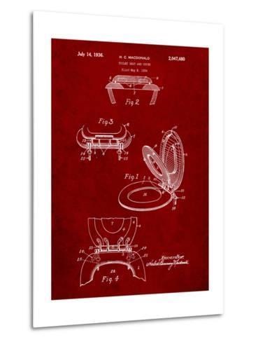 Toilet Seat Patent-Cole Borders-Metal Print