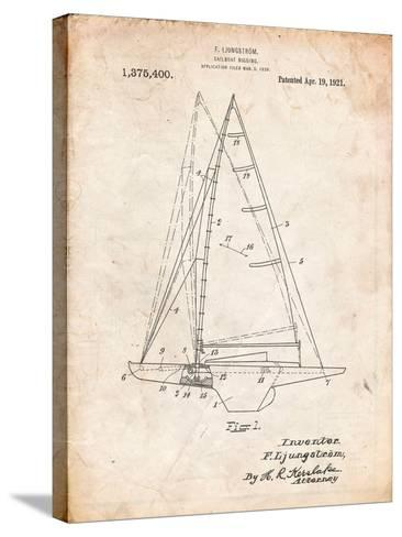 Ljungstrom Sailboat Rigging Patent-Cole Borders-Stretched Canvas Print