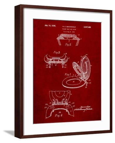 Toilet Seat Patent-Cole Borders-Framed Art Print