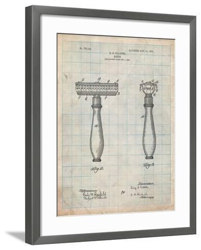 Safety Razor Patent-Cole Borders-Framed Art Print