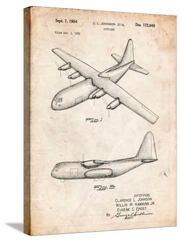 Lockheed C-130 Hercules Airplane Patent-Cole Borders-Stretched Canvas Print