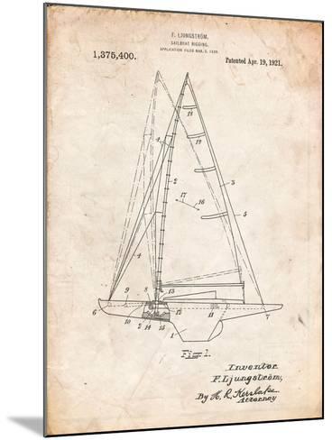 Ljungstrom Sailboat Rigging Patent-Cole Borders-Mounted Art Print