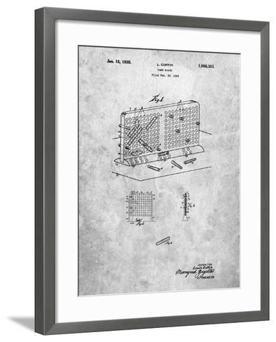 Battleship Game Patent-Cole Borders-Framed Art Print