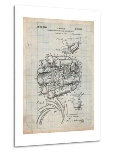 Aircraft Rocket Patent-Cole Borders-Metal Print