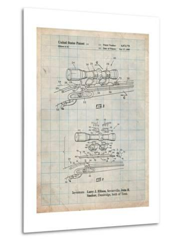 Black Powder Rifle Scope Patent-Cole Borders-Metal Print