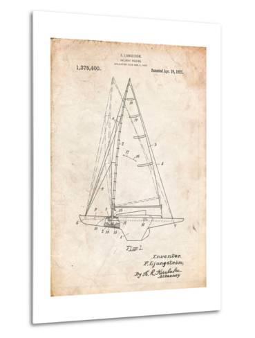 Ljungstrom Sailboat Rigging Patent-Cole Borders-Metal Print
