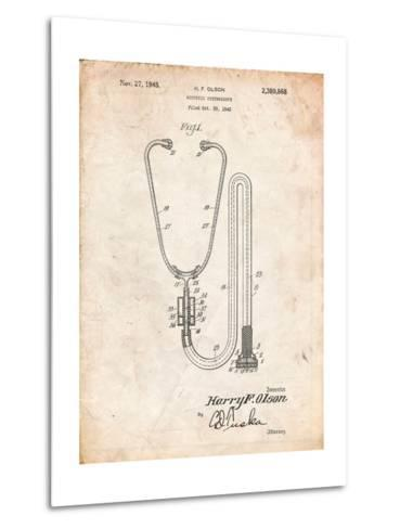 Stethoscope Patent-Cole Borders-Metal Print