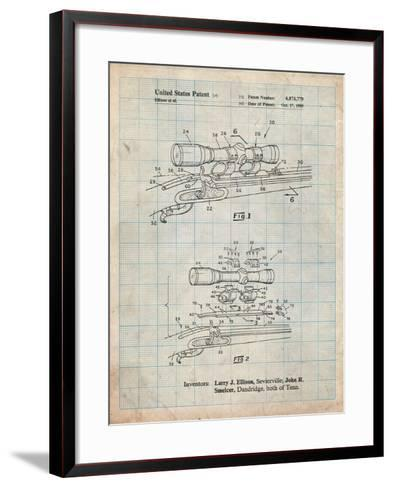 Black Powder Rifle Scope Patent-Cole Borders-Framed Art Print