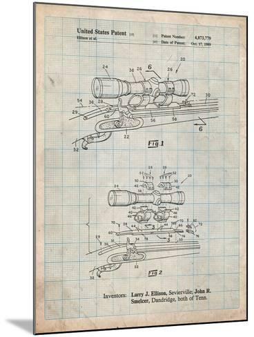 Black Powder Rifle Scope Patent-Cole Borders-Mounted Art Print