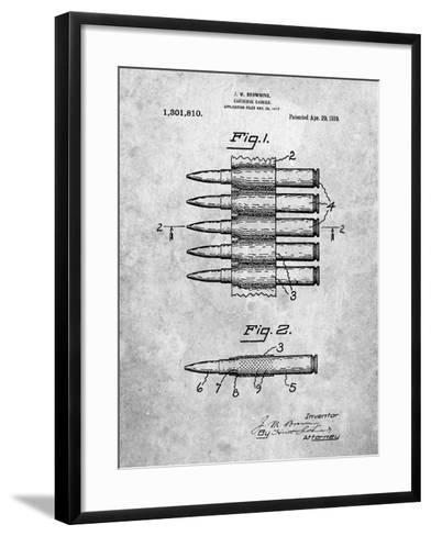 Machine Gun Bullet Carrier Belt Patent-Cole Borders-Framed Art Print