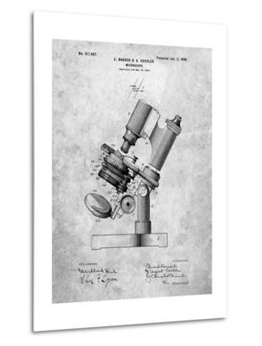 Bausch and Lomb Microscope Patent-Cole Borders-Metal Print