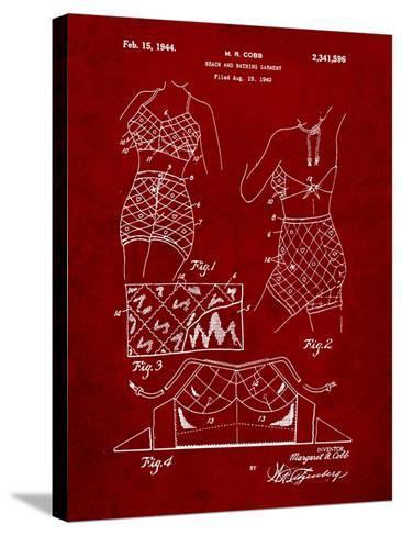 Vintage Bathing Suit Patent 1940-Cole Borders-Stretched Canvas Print