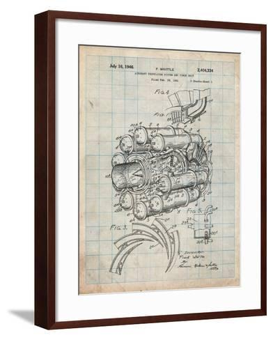 Aircraft Rocket Patent-Cole Borders-Framed Art Print