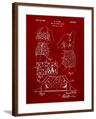 Vintage Bathing Suit Patent 1940-Cole Borders-Framed Art Print