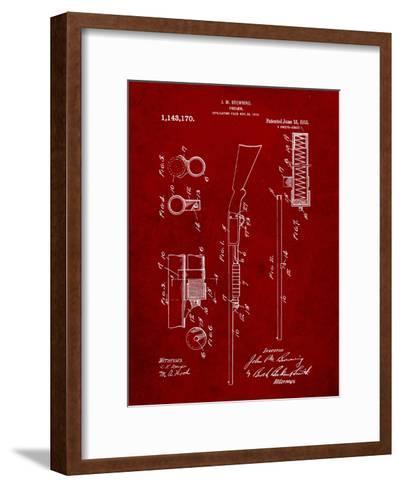 Browning Shotgun Patent-Cole Borders-Framed Art Print