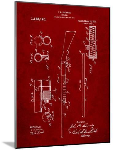 Browning Shotgun Patent-Cole Borders-Mounted Art Print