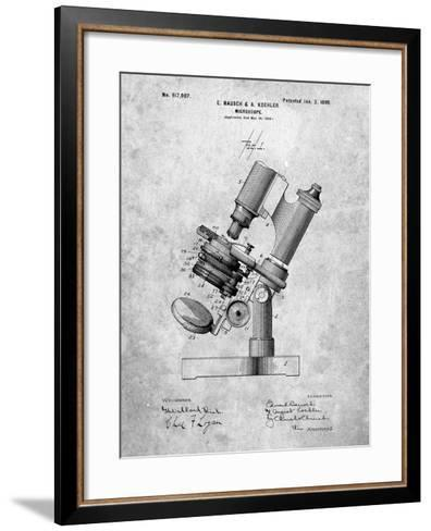 Bausch and Lomb Microscope Patent-Cole Borders-Framed Art Print