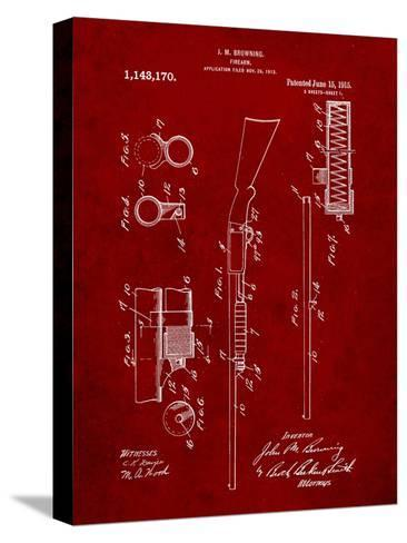 Browning Shotgun Patent-Cole Borders-Stretched Canvas Print