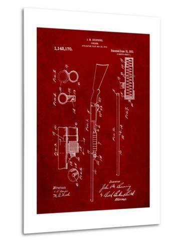 Browning Shotgun Patent-Cole Borders-Metal Print