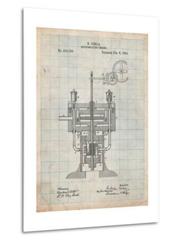 Tesla Reciprocating Engine-Cole Borders-Metal Print