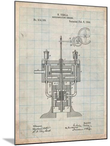 Tesla Reciprocating Engine-Cole Borders-Mounted Art Print