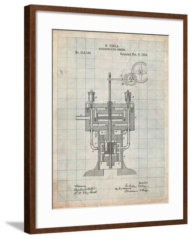 Tesla Reciprocating Engine-Cole Borders-Framed Art Print