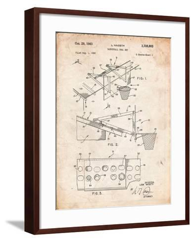 Basketball Goal With Backboard Patent 1960-Cole Borders-Framed Art Print