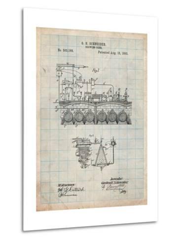 Beer Brewing Science 1893 Patent-Cole Borders-Metal Print