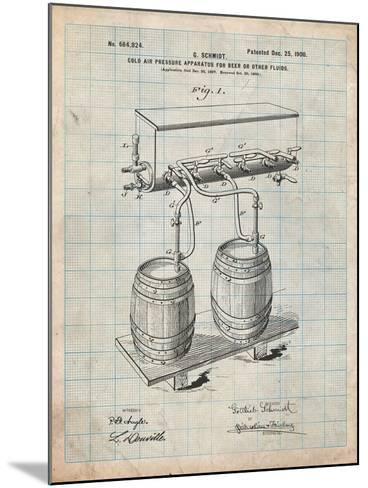 Beer Keg Cold Air Pressure Tap-Cole Borders-Mounted Art Print