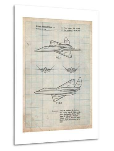 Northrop F-23 Fighter Stealth Plane Patent-Cole Borders-Metal Print
