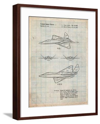 Northrop F-23 Fighter Stealth Plane Patent-Cole Borders-Framed Art Print