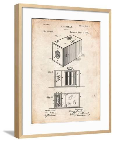 Eastman Vintage Camera Patent-Cole Borders-Framed Art Print