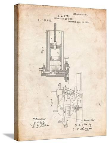 Combustion Engine Patent 1877-Cole Borders-Stretched Canvas Print