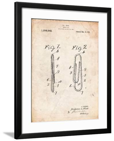 Paper Clip Patent-Cole Borders-Framed Art Print