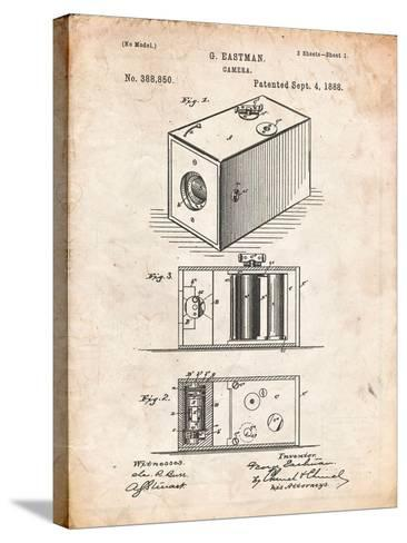 Eastman Vintage Camera Patent-Cole Borders-Stretched Canvas Print
