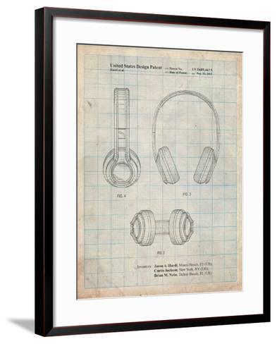 Bluetooth Headphones Patent-Cole Borders-Framed Art Print