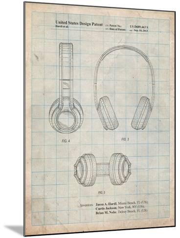 Bluetooth Headphones Patent-Cole Borders-Mounted Art Print