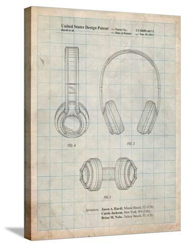 Bluetooth Headphones Patent-Cole Borders-Stretched Canvas Print