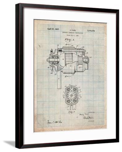 Ford 1935 Dc Generator Patent-Cole Borders-Framed Art Print