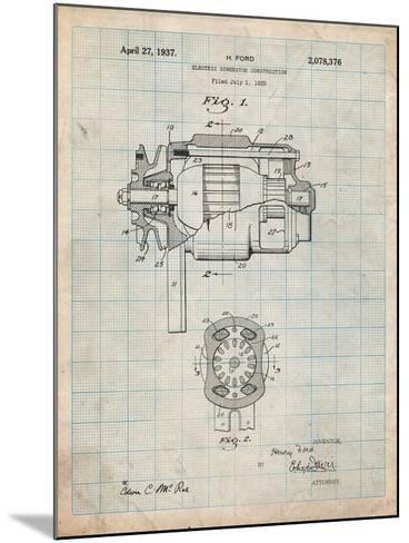 Ford 1935 Dc Generator Patent-Cole Borders-Mounted Art Print