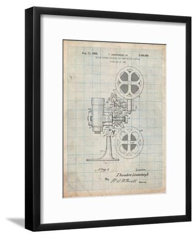 Movie Projector 1933 Patent-Cole Borders-Framed Art Print