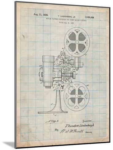 Movie Projector 1933 Patent-Cole Borders-Mounted Art Print