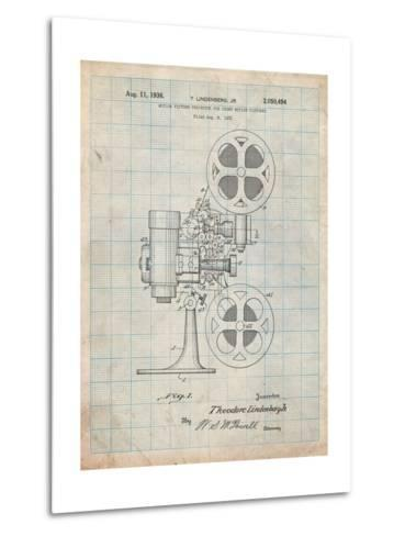 Movie Projector 1933 Patent-Cole Borders-Metal Print